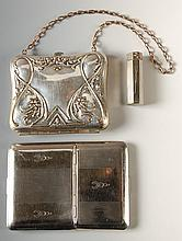 RICHARD HUDNUT VANITY & LIPSTICK, PLUS A VANITY PURSE