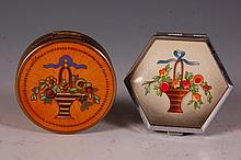 GERMAN STERLING HAND-PAINTED ENAMEL W GUILLOCHE