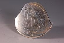 ELGIN AMERICAN STERLING HEART-SHAPED COMPACT
