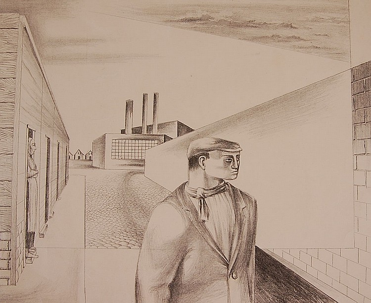 EUGENE KARLIN (1918-2003) PENCIL SIGNED LITHOGRAPH