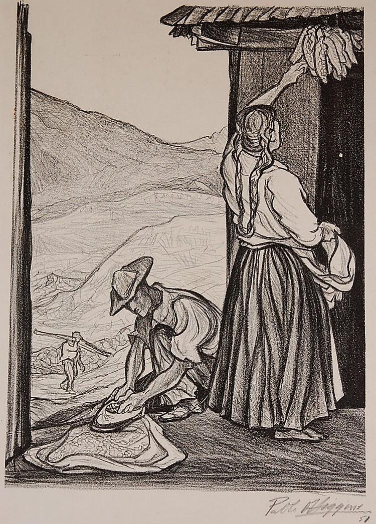 PABLO O'HIGGINS (1904-1983) PENCIL SIGNED LITHOGRAPH