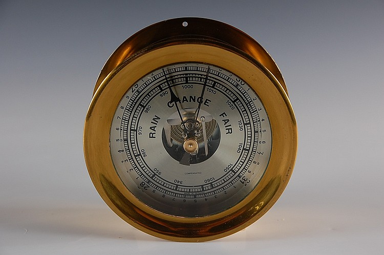 HIGH QUALITY BRASS CASE BAROMETER SCIENTIFIC INSTRUMENT