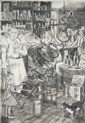 PEGGY BACON (1895-1987) PENCIL SIGNED DRYPOINT ETCHING