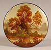 RUSSIAN LACQUER BOX WITH A LANDSCAPE SCENE