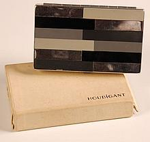 HOUBIGANT ENAMELED COMPACT WITH ORIGINAL BOX