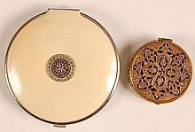 FILIGREE & JEWELED ENAMEL DUO COMPACTS
