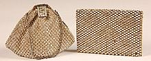 VINTAGE CRYSTAL EVENING BAG & A CRYSTAL CLUTCH