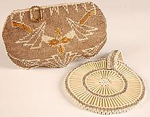 TWO VINTAGE CZECHOSLOVAKIAN BEADED HANDBAGS