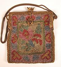 ANTIQUE STEEL BEADED BAG