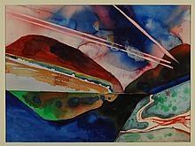 KEITH CROWN (1918-2010) ABSTRACT WATERCOLOR