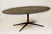 KNOLL VERDI ALPI MARBLE TOP OVAL CONFERENCE/DINING TABLE