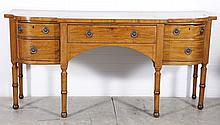 CIRCA 1800 ENGLISH MAHOGANY SIDEBOARD WITH CELLARETTE