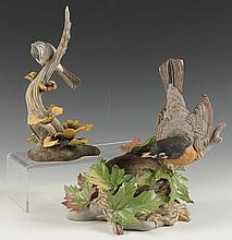 TWO BOEHM PORCELAIN BIRD FIGURES