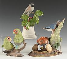 THREE BOEHM BIRD PORCELAIN FIGURES