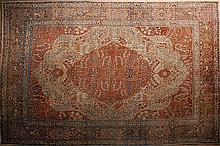 APPROXIMATELY 9 X 12  PERSIAN TABRIZ HAND MADE CARPET