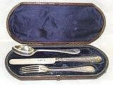 *A cased KFS Christening set, London 1874, weight