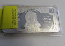 SILVER BAR 10 OZ FINE SILVER .999 FINE TEN OUNCES