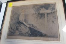 ORIGINAL LOUIS ICART SIGNED PRINT WISTFULNESS
