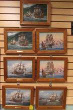 7 PORCELAIN PLAQUES THOMAS FREEMAN W BOXES