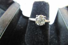 DIAMOND RING .80CT 14K WHITE GOLD ENGAGEMENT