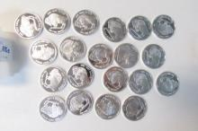 20 Silver Proof 1 oz Coins