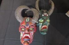 Pair of Devil Masks w/ Horns 14