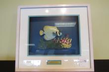 Porcelain Coral Reef Shadowbox signed Marino 19