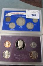 1986 PROOF SET AND YESTERYEAR COIN SET