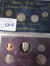 1800s COIN SET & 1986 PROOF SET