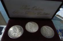 3 NEW ORLEANS  MORGAN SILVER DOLLARS UNC