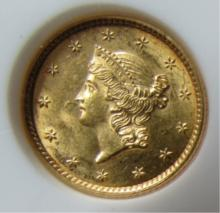 1852 1 DOLLAR GOLD COIN