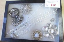 Clear Rhinestone Costume Jewelry Assortment