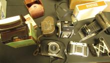 7 Antique Cameras Kodak Revere Collapsing
