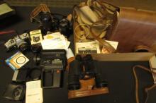 3 Canon Chinon Minolta Cameras & Lenses