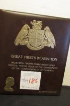 30-23kt Gold Stamps Book Great Firsts in Aviation