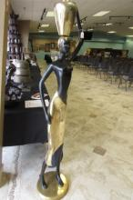 Bronze Egyptian Statue 5 Feet  Tall