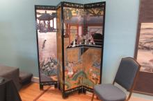 Asian Hand-Painted Divider Screen