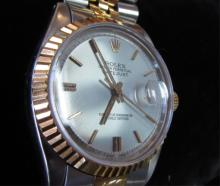 Rolex Datejust 18k & SS Man's Watch