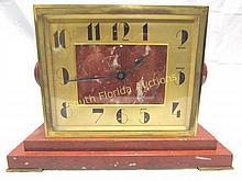 TIFFANY & CO. MANTEL CLOCK BRONZE & MARBLE