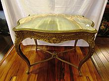 VICTORIAN GOLD GILT ONYX TOP SIDE TABLE