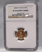 2006 W PROOF 70 $5 DOLLAR US GOLD COIN NGC CERTIFIED