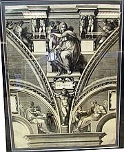 GIORGIO GHISI DELPHICA 1540 ENGRAVING
