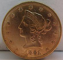 1881 US $10 DOLLAR GOLD LIBERTY EAGLE COIN
