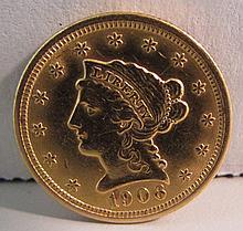 1906 US $2 1/2 DOLLAR GOLD LIBERTY COIN