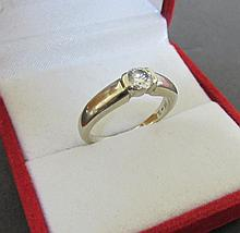 .60CT DIAMOND ENGAGEMENT RING 14K W GOLD