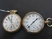 2 ANTIQUE POCKET WATCHES WALTHAM AND ELGIN