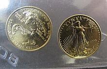 2 1998 GOLD 5 DOLLAR EAGLES UNC