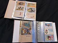 2 ALBUM BOOKS OF ANTIQUE POST CARDS