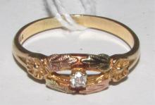 BLACK HILLS DIAMOND RING 10K YELLOW GOLD