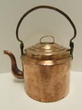 COPPER TEAKETTLE HAND HAMMERED